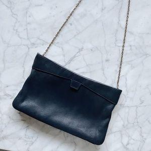 Vintage Genuine Leather Convertible Clutch Purse